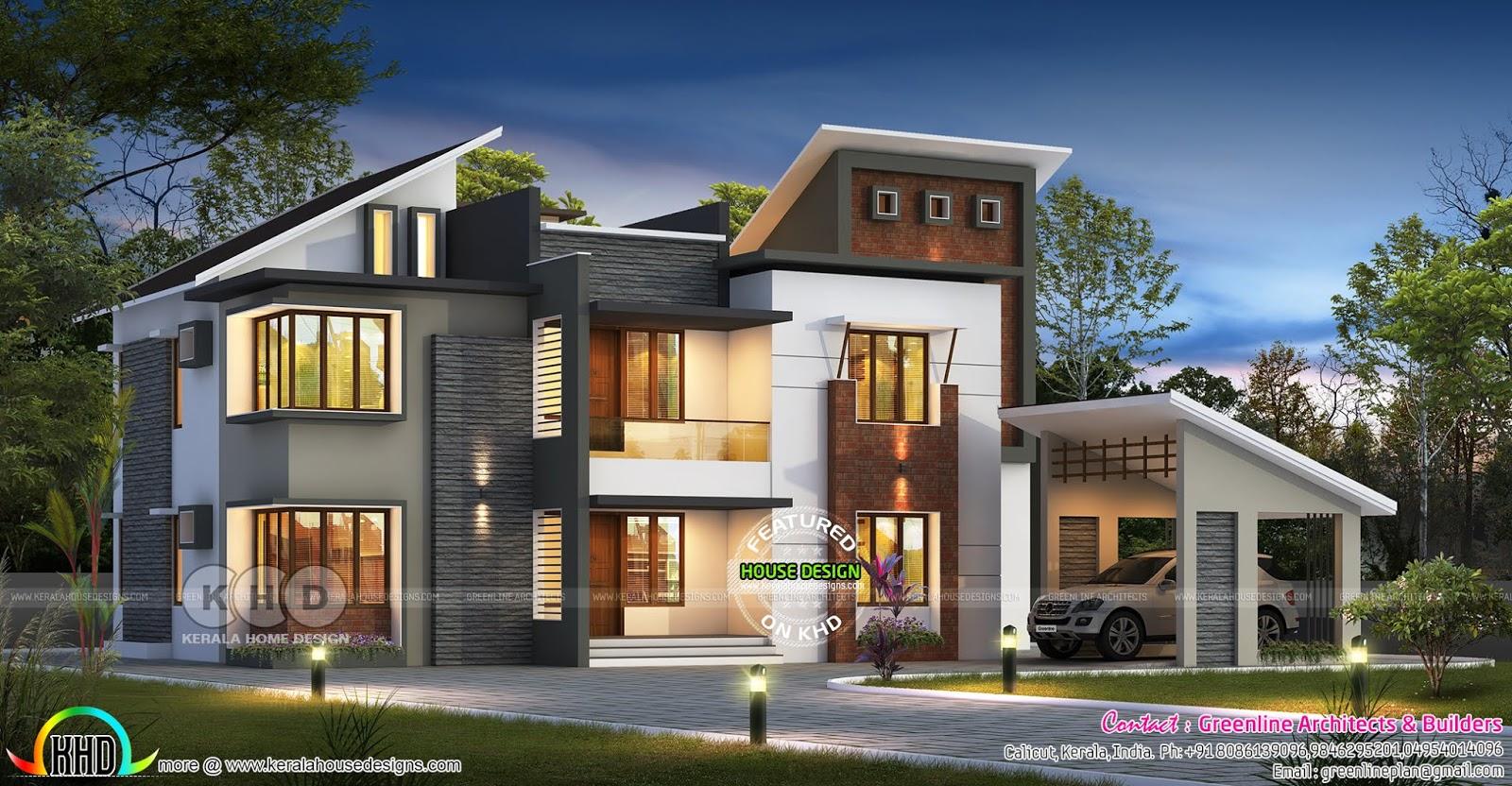 4150 sq-ft 5 bedroom ultra modern style home - Kerala home ...