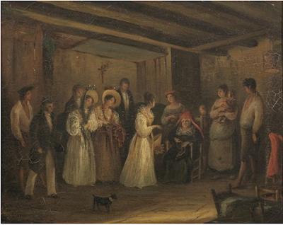 Visite de la Princesse de Berry à une Famille Pauvre (1600), Maria Tibaldi Subleyras