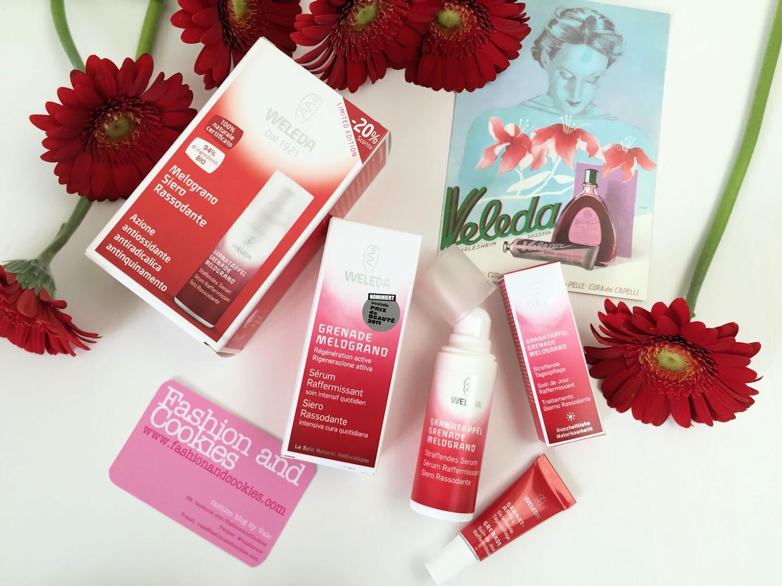 Weleda Natural & Organic Cosmetics Pomegranate serum, Weleda Siero al Melograno on Fashion and Cookies beauty blog, beauty blogger