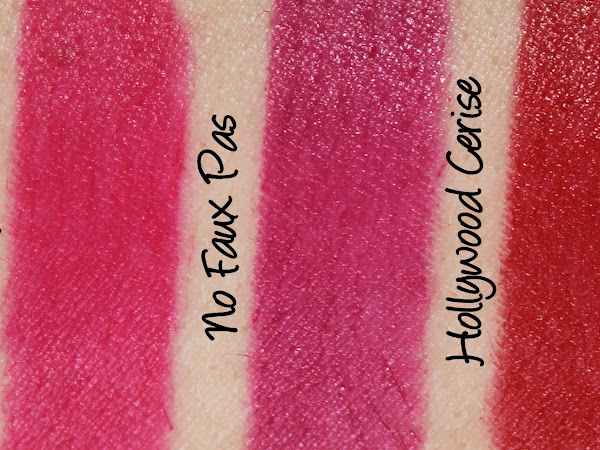 MAC Monday: Philip Treacy Lipsticks - No Faux Pas, Hollywood Cerise and Cardinal Swatches & Review