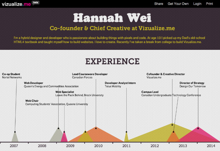 Resume Visualization What Are Some Good Examples Of Data