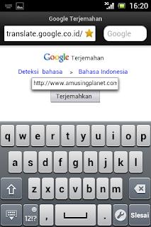 Cara menerjemahkan situs atau website bahasa asing menggunakan google translate via opera mini mobile