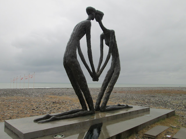 En Batumi son numerosas las referencias al amor