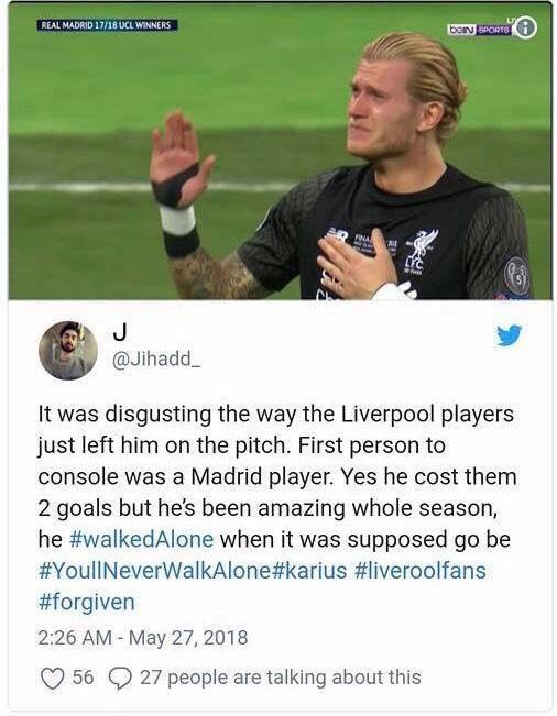 Dah Menangis Minta Maaf, Penjaga Gol Liverpool Masih Diancam Bunuh