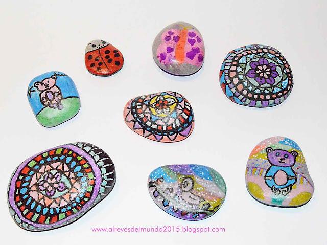pintar decorar piedras manualidades