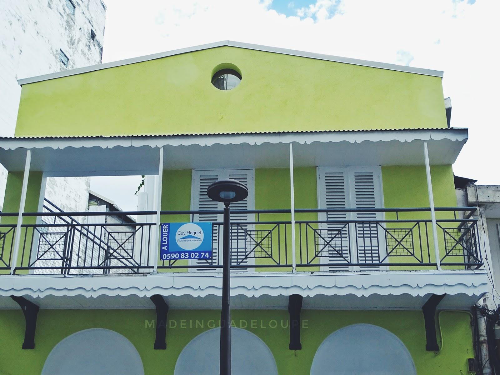 sublime maison de couleur vive jaune renovee - rue frebault pointe a pitre guadeloupe