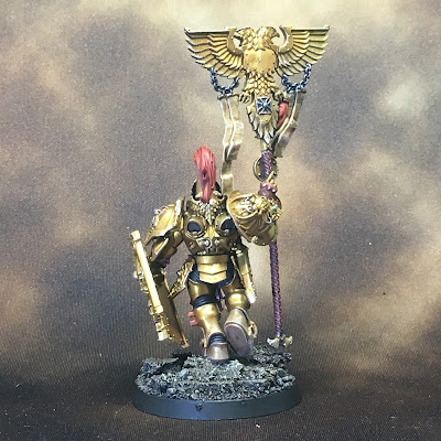 WIP Adeptus Custodes or Custodian Guard banner bearer gallery shot back