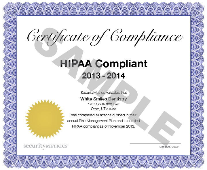 October 2017 for Hipaa training certificate template