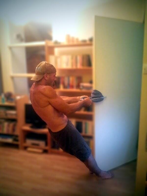 Набиране на врата - дръжки на бравата + кърпа