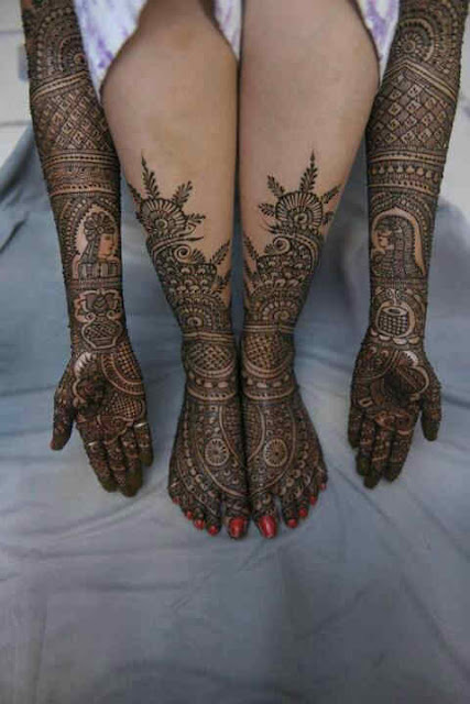 Mehndi For Hands And Legs : Best and beautiful bridal mehndi designs for full hands