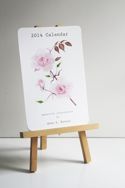 art print calendar, watercolor calendar, Anne Butera, 2014 calendar, My Giant Strawberry