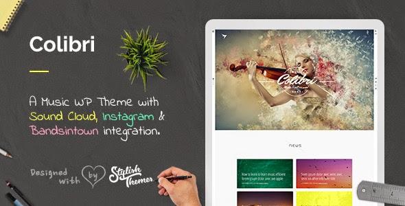 website theme for musician