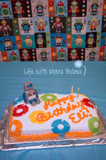 robot party cake