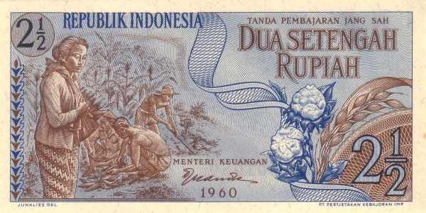 dua setengah rupiah 1960 depan