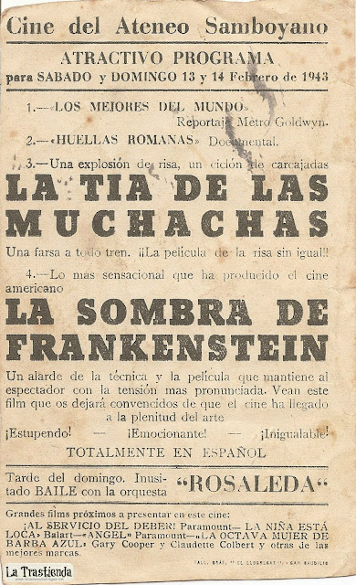 La Sombra de Frankenstein - Folleto de Mano - Basil Rathbone - Boris Karloff - Bela Lugosi