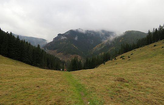 Podejście na Jamskie Siodło.