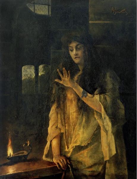 Lady Macbeth by Alfred Stevens, Macabre Art, Macabre Paintings, Horror Paintings, Freak Art, Freak Paintings, Horror Picture, Terror Pictures