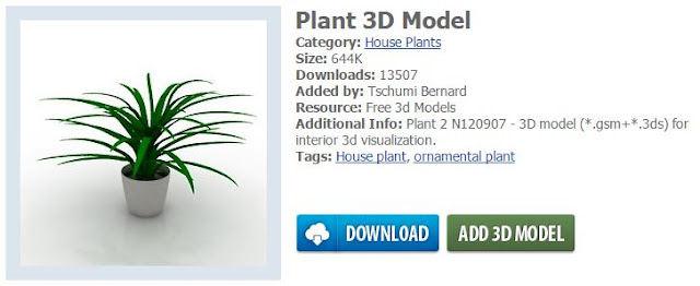 Choose a 3D model to import into your home design project