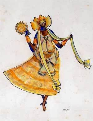 Oxum - Carybé ~ Um pintor fascinado pela cultura da Bahia