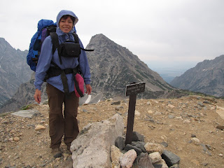 Dana standing on top of Paintbrush Pass
