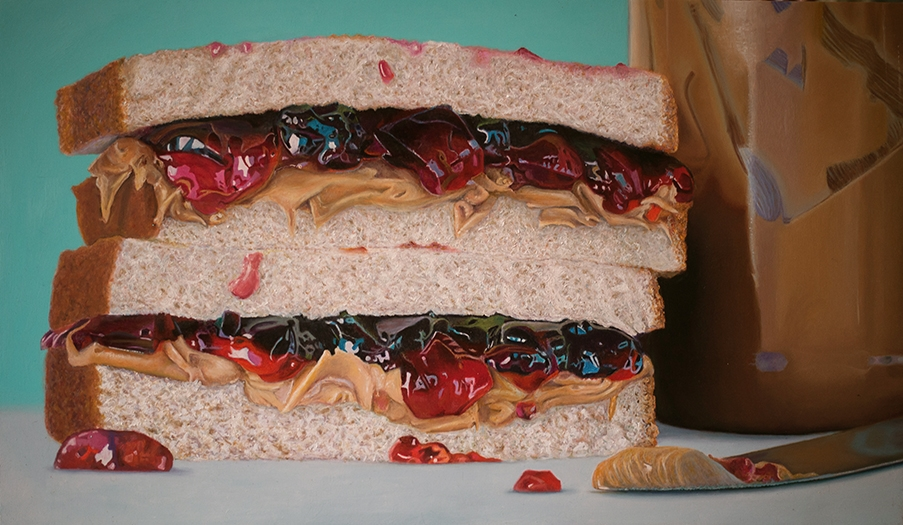 11-Peanut-Butter-and-Jelly-Mary-Ellen-Johnson-A-Sweet-Tooth-s-Dream-in-Food-Art-Paintings-www-designstack-co