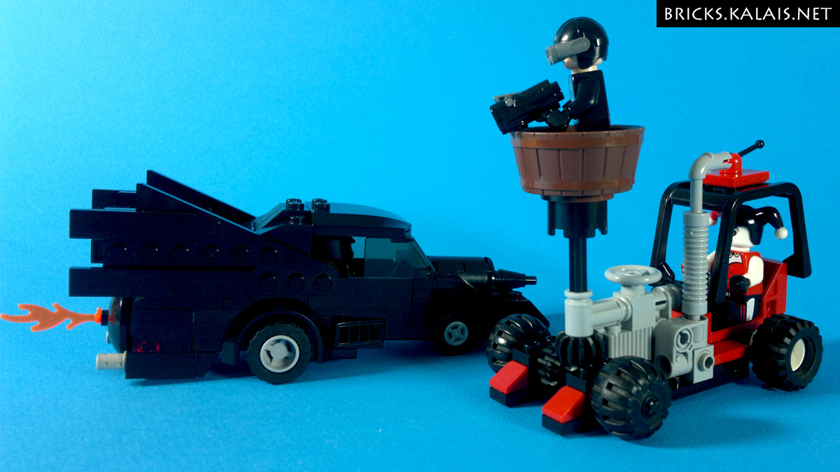[MOC] Batman and Harley Quinn pullback vehicles