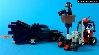 [MOC] Pojazdy pullback Batmana i Harley Quinn