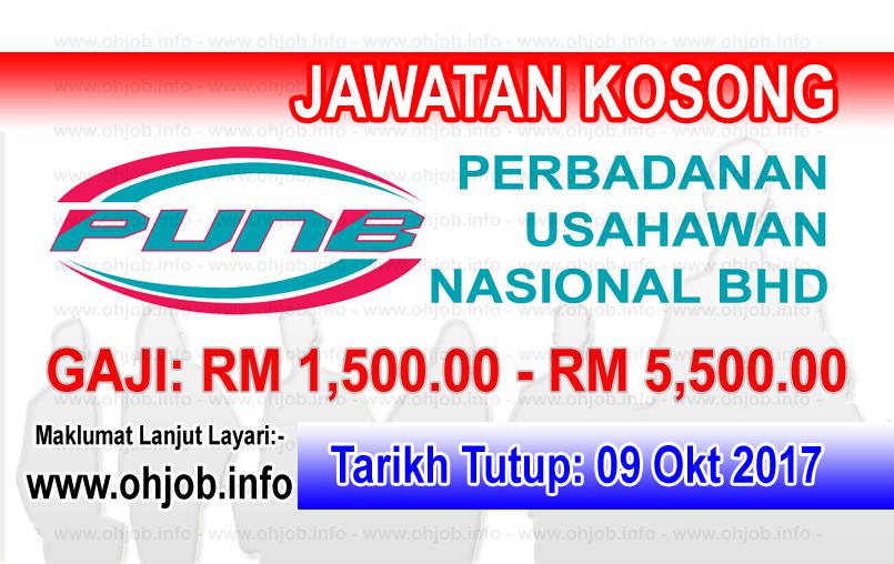 Jawatan Kerja Kosong PUNB - Perbadanan Usahawan Nasional Bhd logo www.ohjob.info oktober 2017