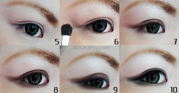 37ec4021d67 Draw eyebrow (straight eyebrow is recommended but I draw curved eyebrow for  this tutorial) with eyebrow pencil and use eyebrow mascara if needed.