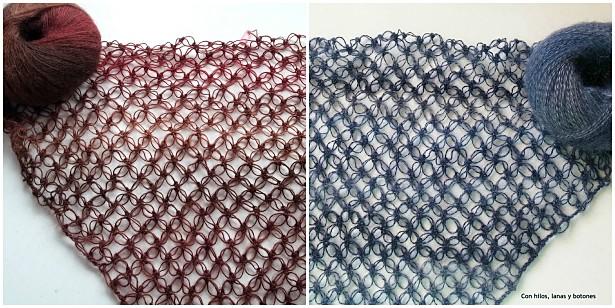 Con hilos, lanas y botones: chal Lucy Lace tejido a crochet en punto Salomón