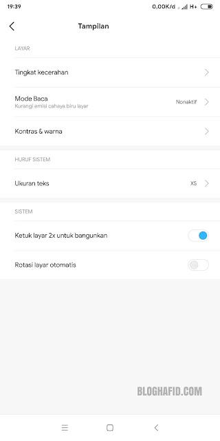 x pada layar merupakan salah satu fitur unggulan yang dimiliki ponsel xiomi Cara Aktifkan Ketuk Layar 2x ( Double Tap to Wake ) di Xiomi