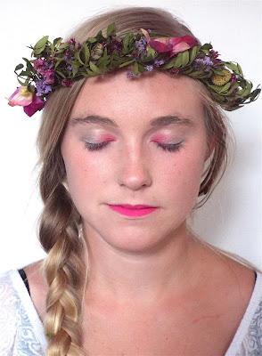 Un make-up rose pour une soirée