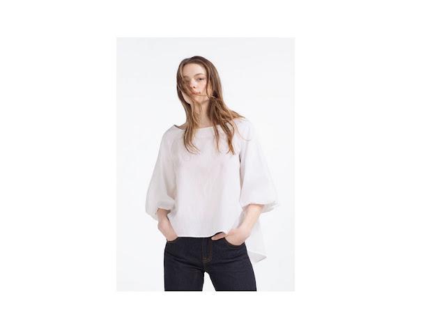Sylwetka gruszki bluzki
