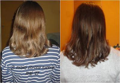 włosy w maju włosy w czerwcu