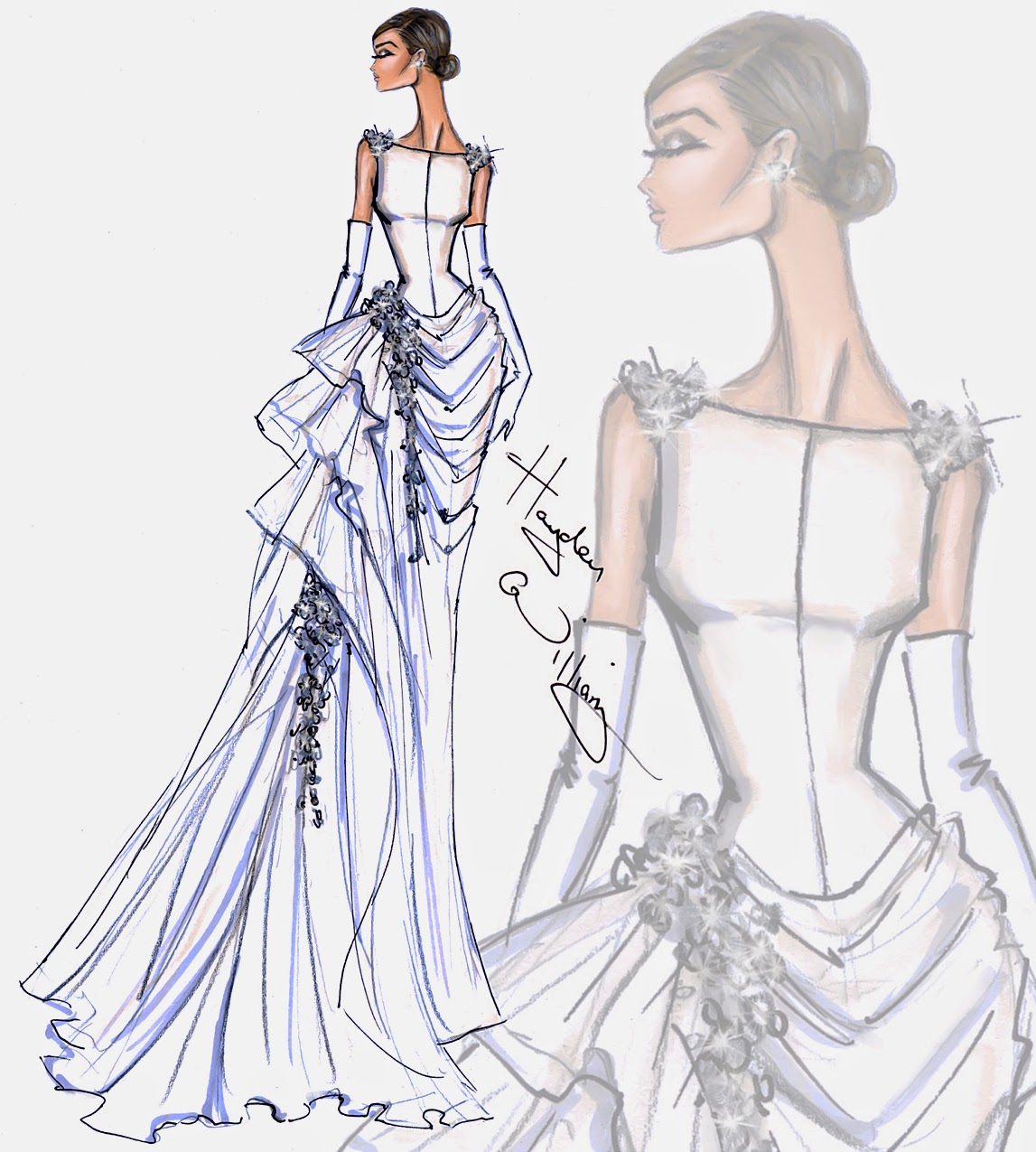 Wedding Gown Illustrations: Hayden Williams Fashion Illustrations: Bridal Couture 2014