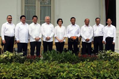 Daftar Menteri di Kabinet Kerja Jilid 2