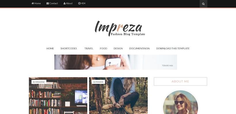 Impreza Free Blogger Template