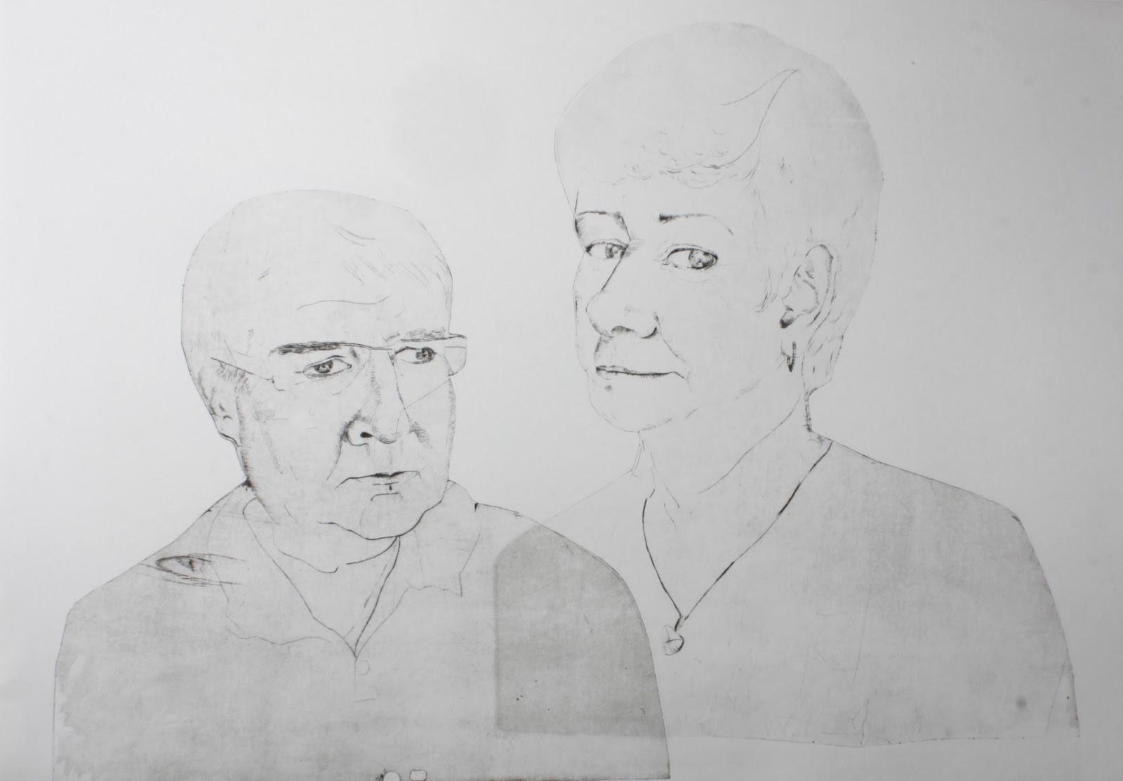 Barbora Dusatkova Rodinny Portret B2 Sucha Jehla B0 Kresba Tuzkou