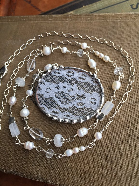 Lace jewelry by Laura Beth Love
