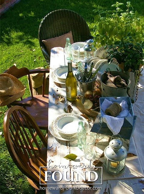 fall, farmhouse style, entertaining, fast cheap and easy, garden, inspiration, neutrals, outdoors, seasonal, tablescapes, picnics, homewardFOUNDdecor.com