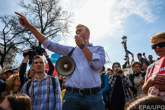 Антипутінські мітинги в Росії: Навального звинуватили в непокорі поліції