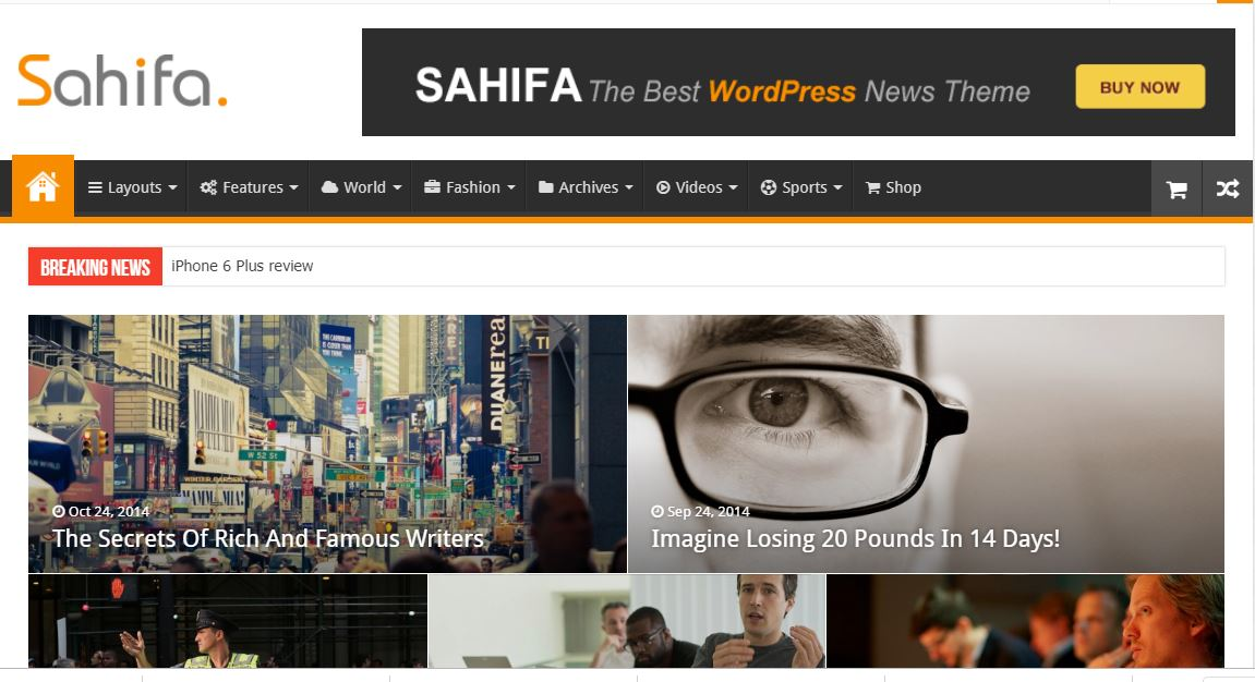Sahifa v5.6.14 – Responsive WordPress News, Magazine