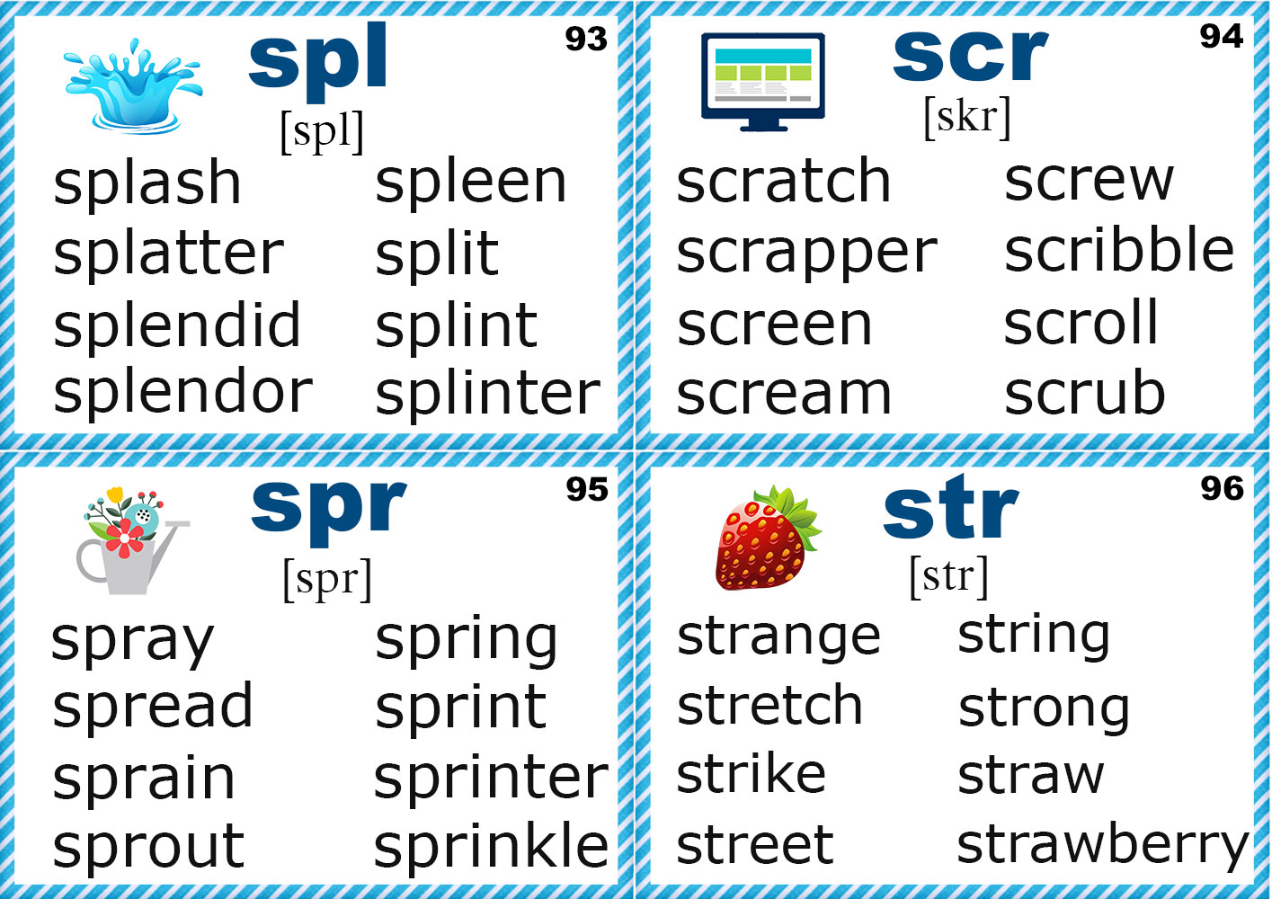 Phonics Flashcards Consonants S T