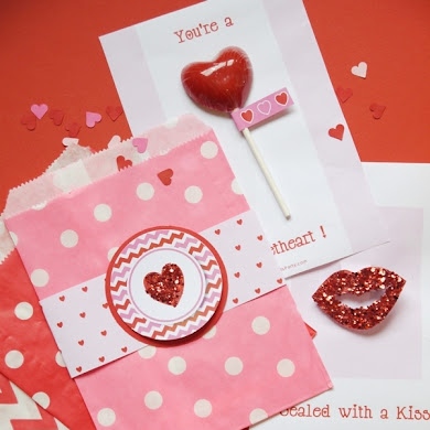 Four Valentine's Day DIY Cards with Free Printables