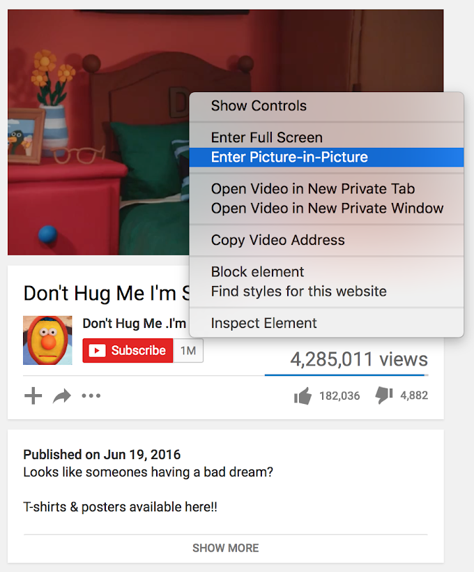 Mac Tip: Use Picture-in-Picture mode on any video