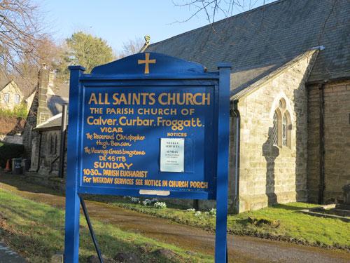 All Saints Church Calver Derbyshire