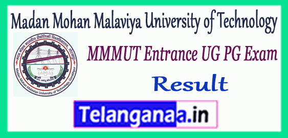 MMMUT Madan Mohan Malaviya University of Technology Admission Entrance Result