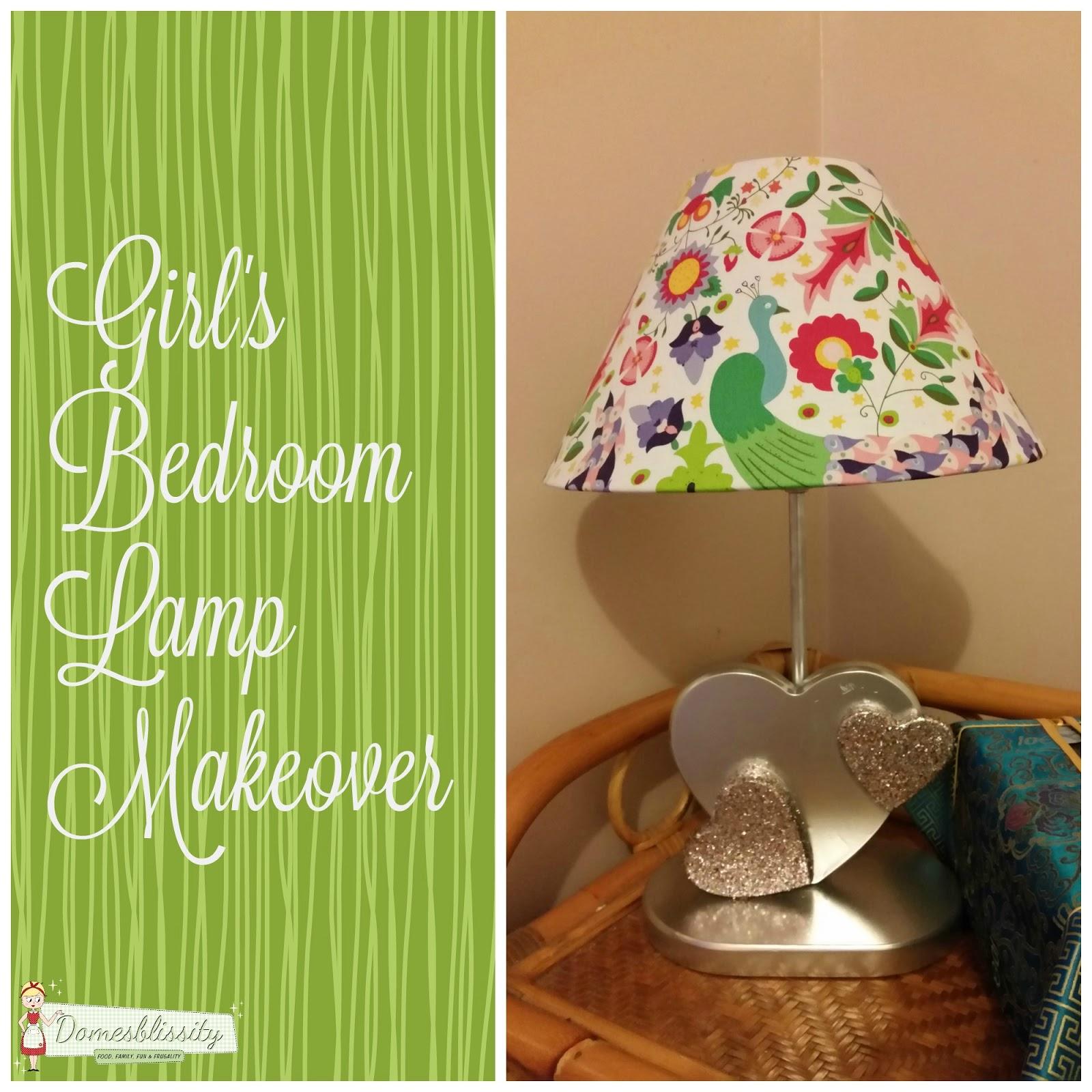 Girl\'s Bedroom Lamp Makeover - Domesblissity