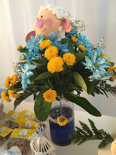 Arreglo de flores bautizo