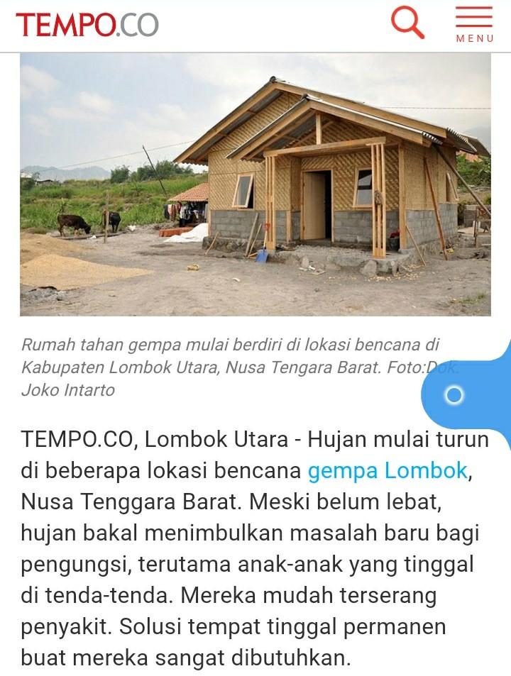 Klarifikasi Tempo Soal Hoax RHS Gempa Lombok